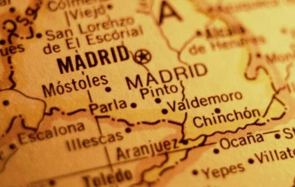 Карта Испании рядом с Мадридом