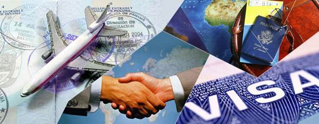Коллаж соглашения и визы