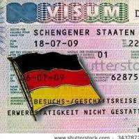 Виза и флаг Германии