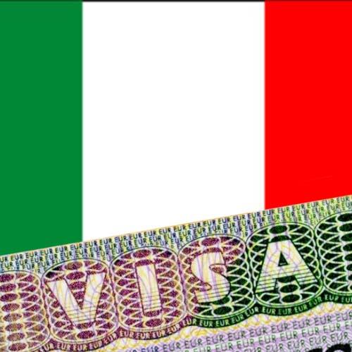 Флаг Италии с визой