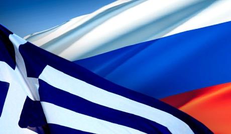 Флаги Греции и России